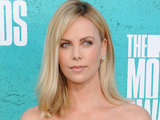 Charlize Theron on the red carpet at the MTV Movie Awards 2012