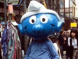 Man dressed as a Smurf