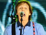 Sir Paul McCartney on stage outside Buckingham Palace during the Diamond Jubilee Concert.