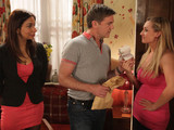 Eva is puzzled by the goings on between Karl and Sunita and questions Karl over the money he has
