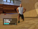 Nike+ Kinect Trainer links to smartphones and Nike apps.