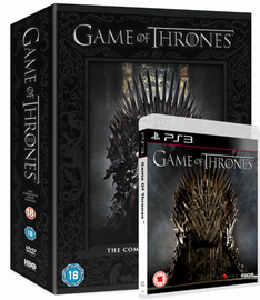 Game of Thrones game and dvd