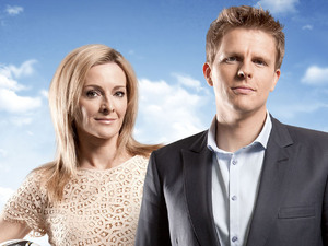 Gaby Logan and Jake Humphrey
