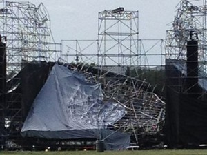 Radiohead collapsed stage