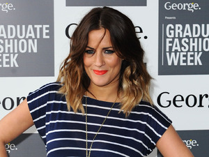 Caroline Flack, attending the opening of Graduate Fashion Week, at Earl's Court in west London