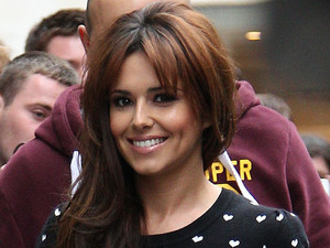 Cheryl Cole outside the BBC Radio 1 studios London