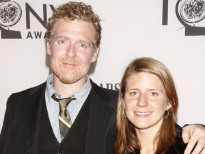 Glen Hansard and Marketa Irglova arriving at the 66th Annual Tony Awards in New York