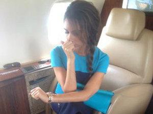 Victoria Beckham on a plane