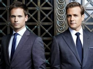 Suits: Patrick J. Adams as Mike Ross, Gabriel Macht as Harvey Specter