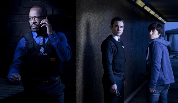 Line of Duty: DCI Tony Gates (LENNIE JAMES), DS Steve Arnott (MARTIN COMPSTON), Detective Constable Kate Fleming (VICKY McCLURE)