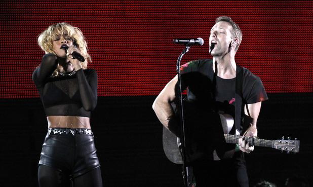 Rihanna and Coldplay perform 'Princess of China' at the Grammy Awards, February 2012