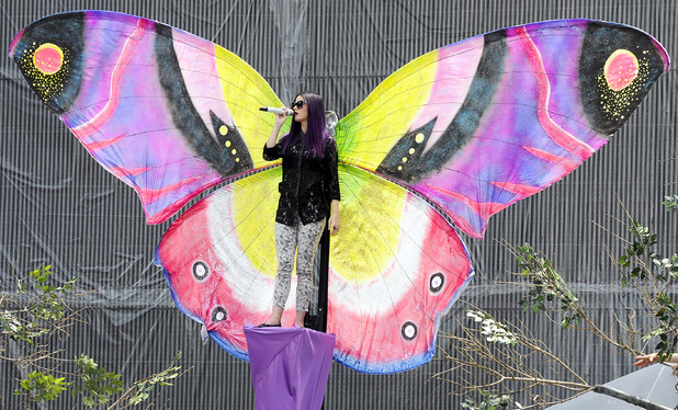 Katy Perry rehearses for the 2012 MuchMusic Video Awards in Canada.