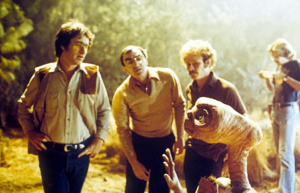 Steven Spielberg and Carlo Rambaldi