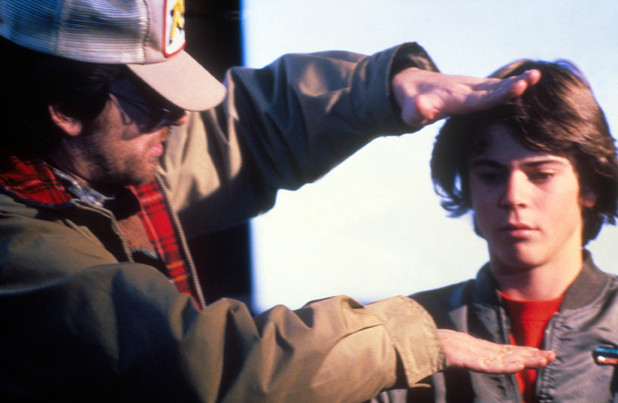 Steven Spielberg and C Thomas Howell