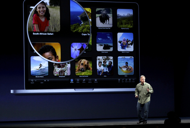 Apple WWDC 2012: Phil Schiller, Apple's senior vice president of worldwide marketing, says it is introducing a laptop with a super-high resolution