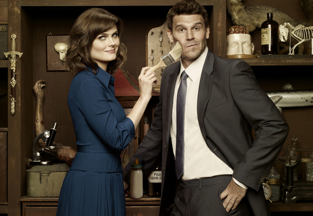 Bones stars Emily Deschanel and David Boreanaz