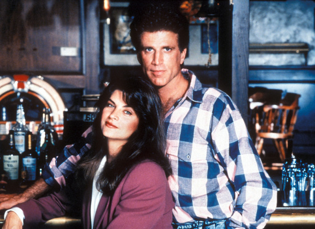 Cheers: Kirstie Alley (as Rebecca Howe), Ted Danson (as Sam Malone)