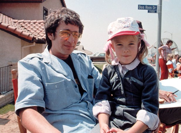 Steven Spielberg and Drew Barrymore