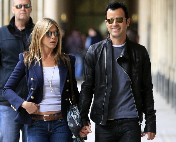 Jennifer Aniston and her boyfriend Justin Theroux
