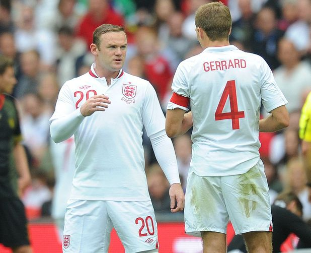 Steven Gerrard and Wayne Rooney