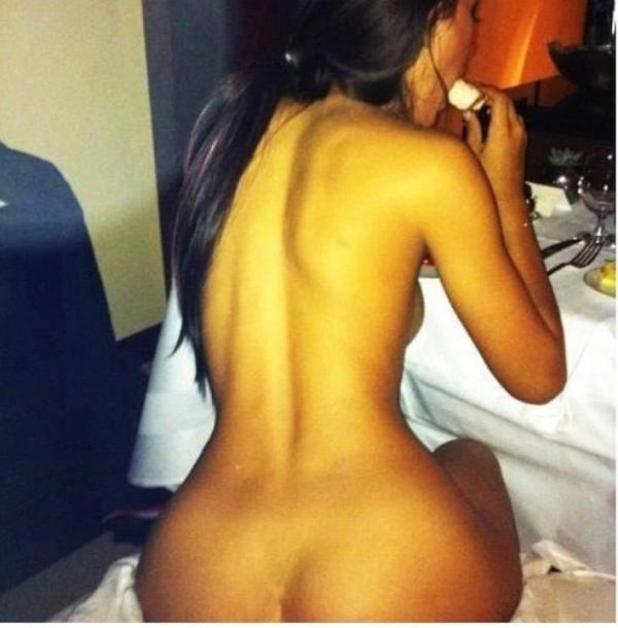 Alleged nude photo of Kim Kardashian posted by Kanye West on Twitter