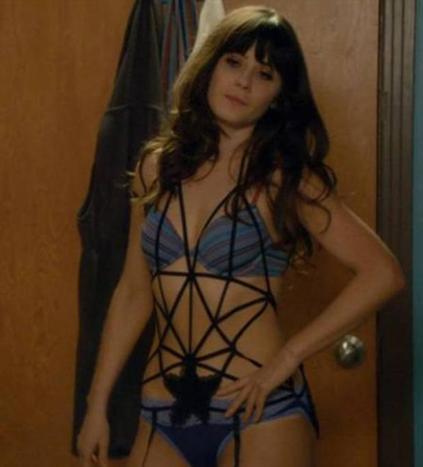 Zooey Deschanel in New Girl bondage scene