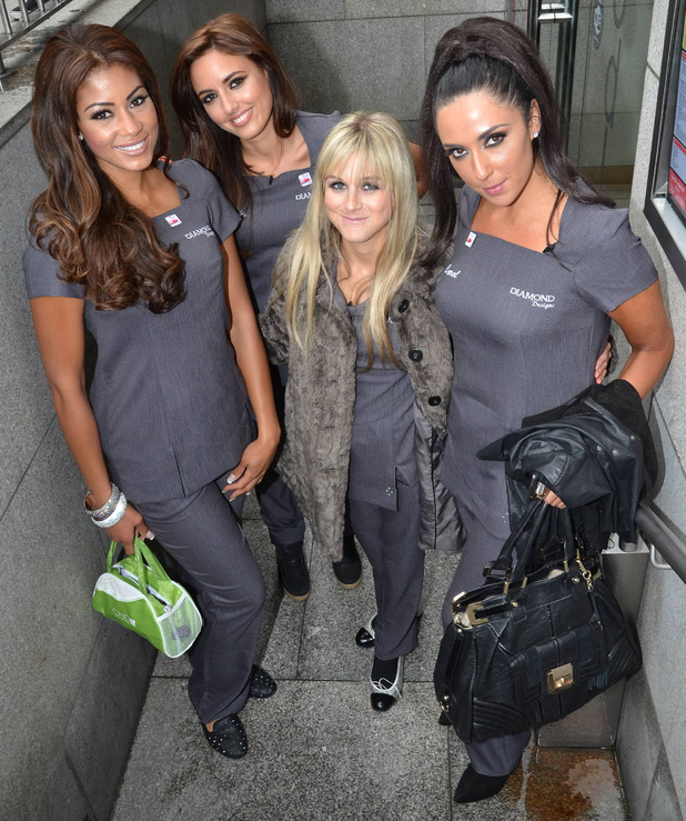 Nikki Grahame joins fellow contestants of TV3's Celebrity Salon in Dublin.
