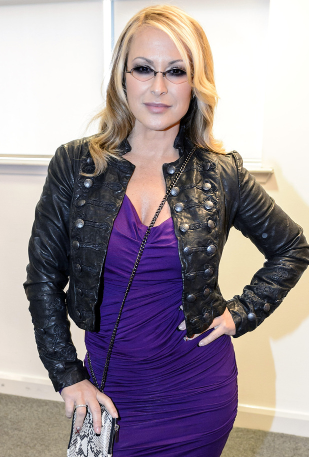 Anastacia backstage at The X Factor