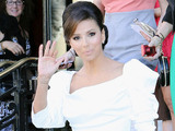 Eva Longoria outside the Hotel de Paris