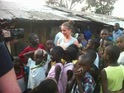 Brooke Vincent is moved to tears while visiting a Kenyan slum.