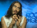 "Russell Brand jokes that Katy Perry was willing to do ""wheelchair porn""."