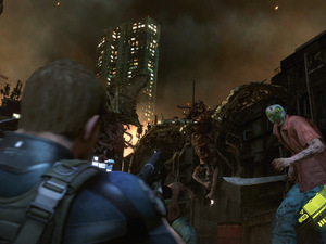 Chris in action in Resident Evil 6