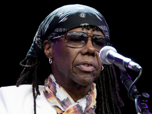 Chic ft Nile Rodgers perform on stage during day 3 of the Lovebox Festival at Victoria Park in London