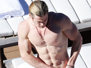 Chris Hemsworth, topless, sydney