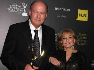 39th Daytime Emmy Awards - Bill Geddie and Barbara Walters.