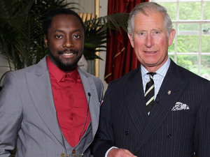 Singer Will.i.am stands with the Prince of Wales at Clarence House, London, during a meeting to discuss a donation from the i.am.angel Foundation to support the work of The Prince&#39;s Trust with disadvantaged young people.