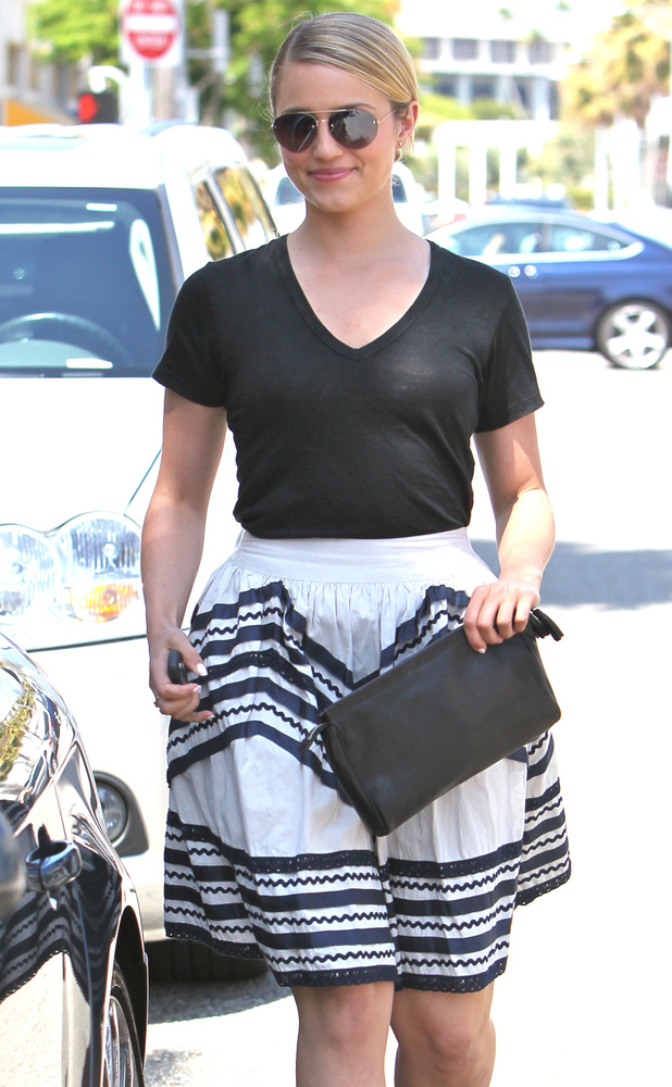 Dianna Agron out and about in Beverly Hills.