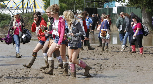 festival-goers, Isle of Wight