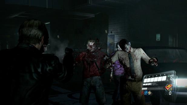 Leon in action in Resident Evil 6
