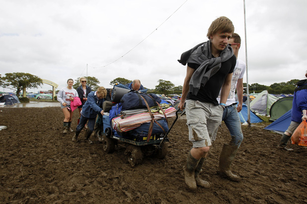 Isle of Wight Festival Floods 