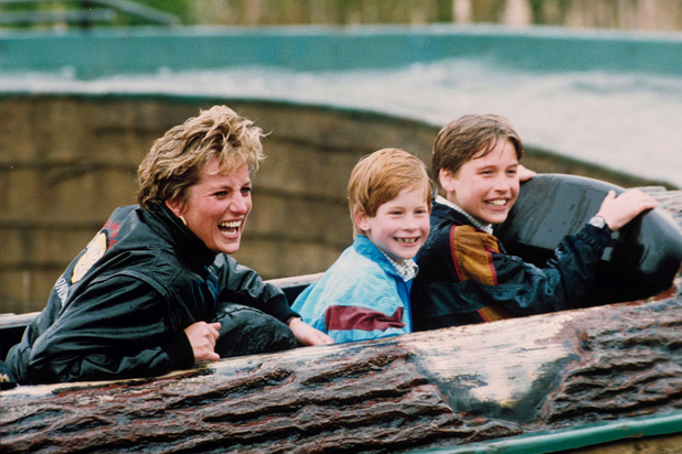 Princess Diana, Prince Harry, Prince William, 1993, Thorpe Park