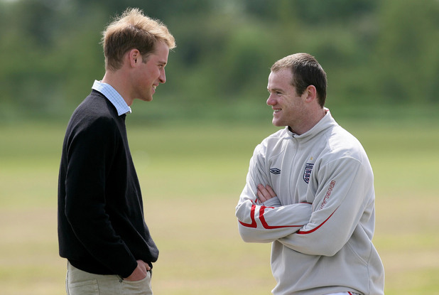 Prince William and Wayne Rooney