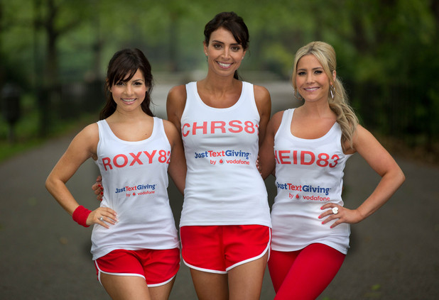 Roxanne Pallett, Christine Bleakley and Heidi Range at the Race for Life