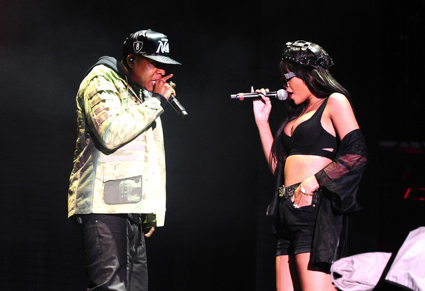 Jay-Z and Rihanna at Radio 1 Hackney Weekend