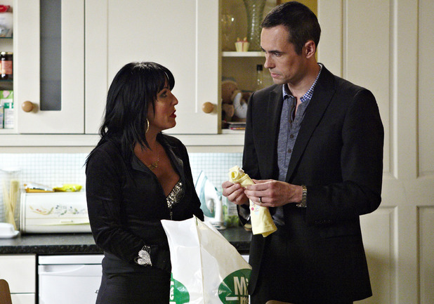 Kat Moon and Michael Moon in EastEnders