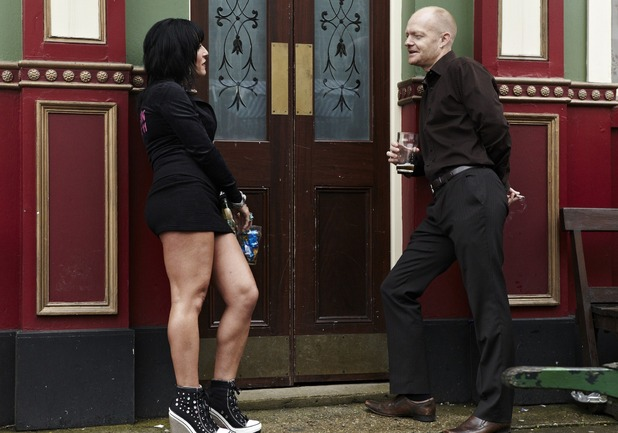 Kat Moon and Max Branning in EastEnders