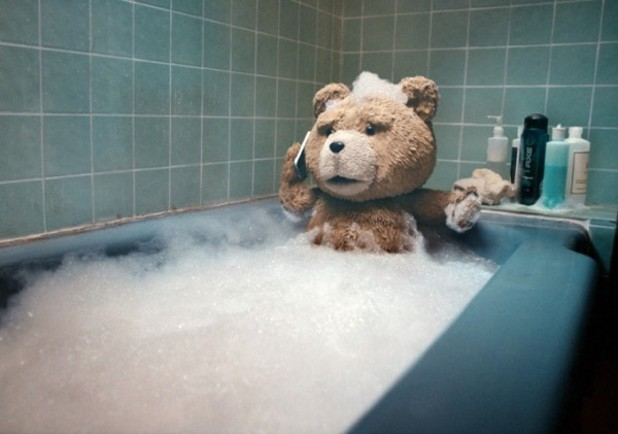 Ted in the bath