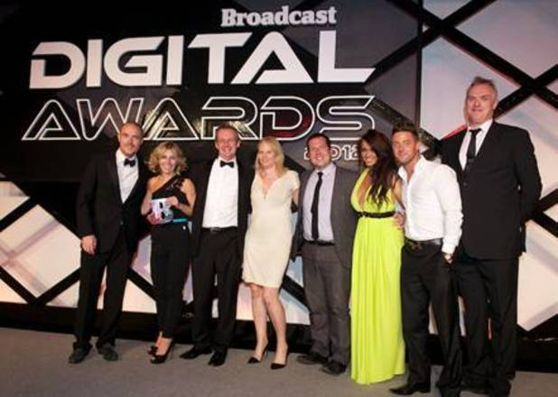 The MTV crew at the Broadcast Digital Awards 2012
