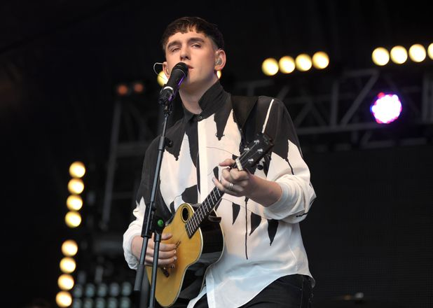 Patrick Wolf performs on stage during day 3 of the Lovebox Festival at Victoria Park in London