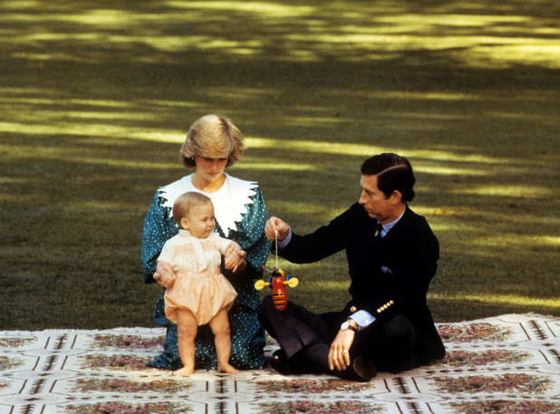 Princess Diana, Prince William, Prince Charles, 1983